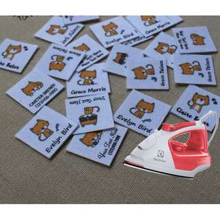 Kitty Cat iron on Personalize name label 84pcs