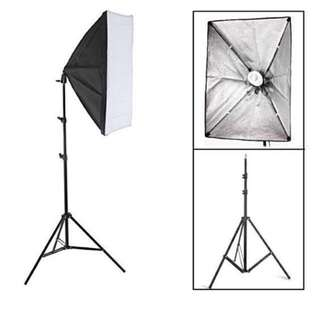 BRAND NEW SET SOFT BOX PHOTOGRAPHY LIGHTS TRIPOD STAND WITH BULBS