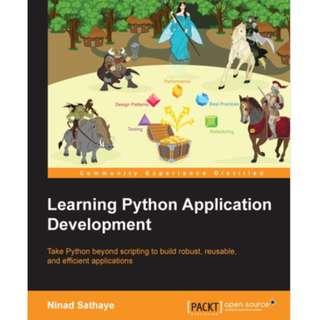 Learning Python Application Development eBook