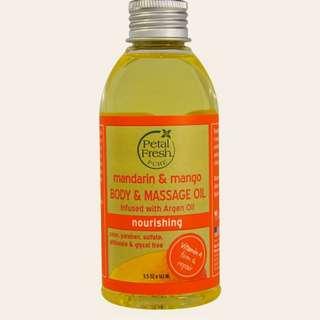 Body & Massage Oil, Nourishing, Mandarin & Mango, 5.5 oz (163 m)