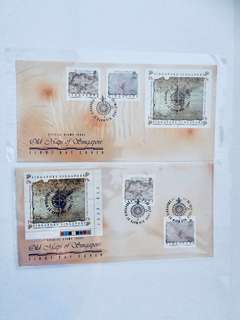1989 S'pore Old Map FDCs (2 Sets)