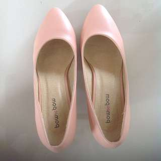 Pump Shoes Bow Bow Nude