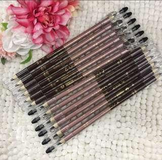 🌈2in1 EYEBROW black/darkbrown with sharpener