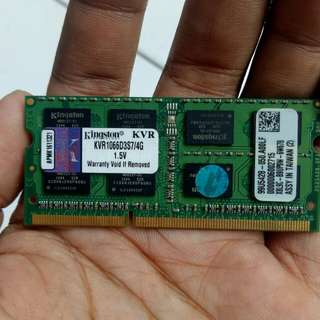 Memori RAM sodim kvr 4GB