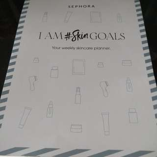 Weekly skin care planner Sephora