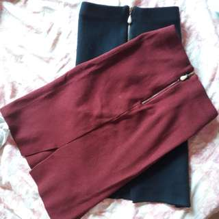 Pencil cut skirt (stretch fabric)