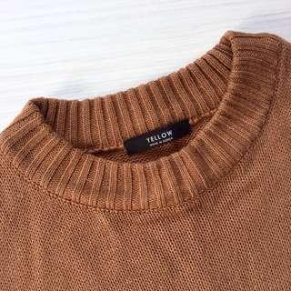 韓國代購 全新咖啡色針織毛衣