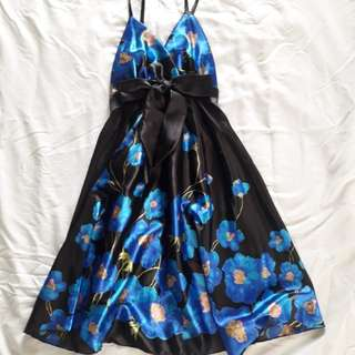 Black and Blue Cocktail Dress