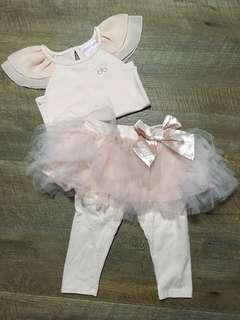 Mango blush pink tutu set