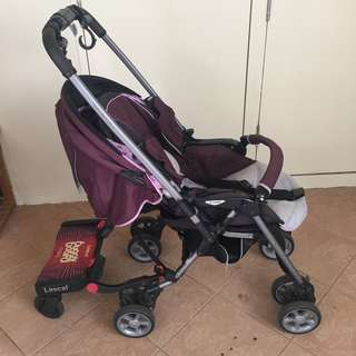 Combi Miracle Turn with Lascal Buggy Board