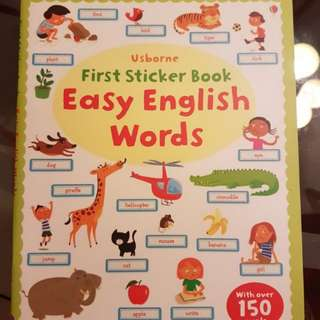 ⛤ BN Usborne First Sticker Book