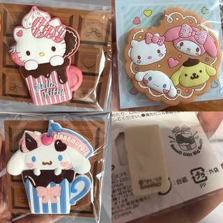 Last PcS Hello Kitty Pompompurin Cinnamoroll My Melody Cup Cakes Clip