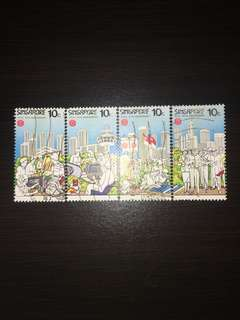 Singapore Stamps(OLD) 4pc Set