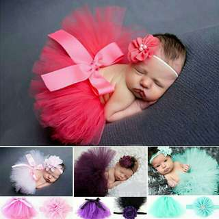 tutu skirt and hairband for baby girl