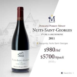 Domaine Perrot Minot Nuits Saint Georges La Richemone 1er Cru 2011 750ml