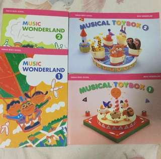 Yamaha Music Wonderland & Musical Toybox Books for level 1 & 2