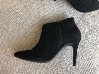 Sachi suede zip up ankle boots