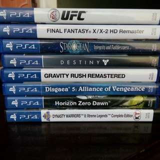 TRADE ONLY PS4 games