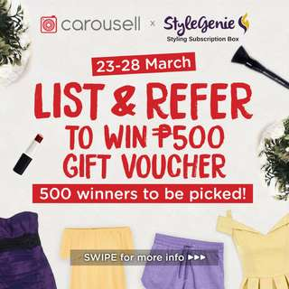 Carousell x StyleGenie Styling Subscription Box Giveaway! 🚨STARTS NOW - SEE TASK OF THE DAY LISTING🚨