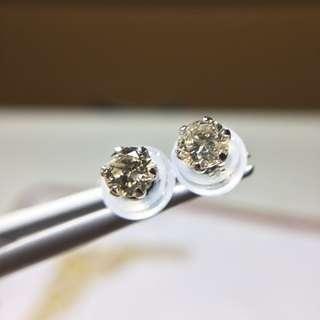 鉑金30分鑽石耳環