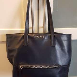 Miu Miu Leather tote bag