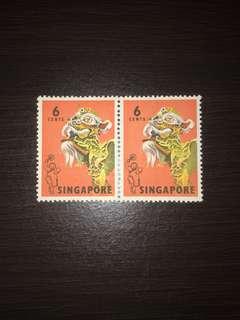 Rare Singapore Stamps(OLD) Unuse 2pc