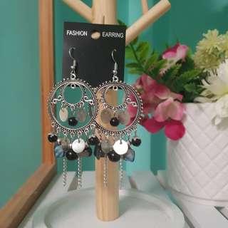 Black amd silver boho earrings