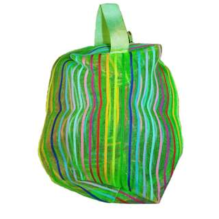 Mesh Pouch Bag with Rainbow Strap - 3 Colours