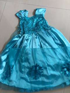 Frozen theme dress for 1.5-2year old