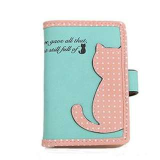 Kitty Card Holder (Green)