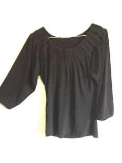 Pleated Black Shirt