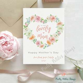 Personalized Watercolour Floral Card for Mother's Day - To My Lovely Mum