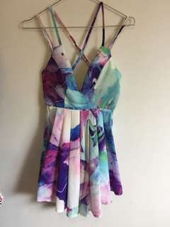 Colourful Print Playsuit