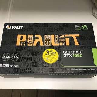 Palit dual GTX 1060 6gb brand new sealed