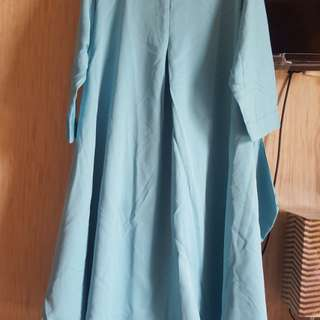 Tunik biru fit to L