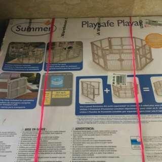 Summer Playsafe Playard 6 panels.