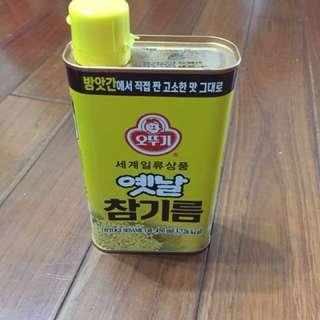 韓國不倒翁#香油純香芝麻油450ml(韓式料理必備)百分之百純芝麻壓榨