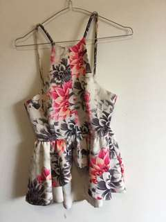 Floral fashion top