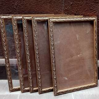 A4 Size Golden Frame- 5 pieces