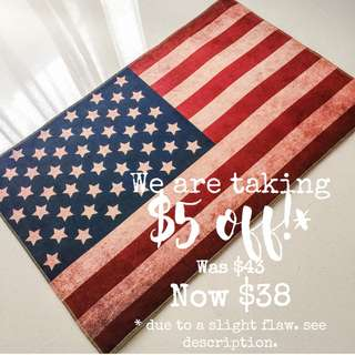 Carpet | Vintage Flag Rug - The American Flag | 50cm*80cm