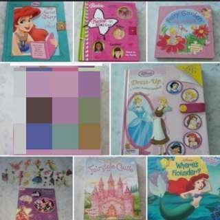 Children Books Disney Princess Barbie