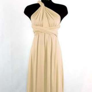 Champagne nude convertible long dress