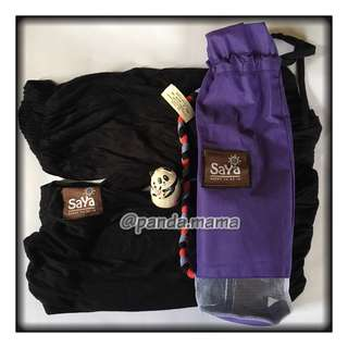 SOLD: SAYA SSK Baby Carrier - Black - Small