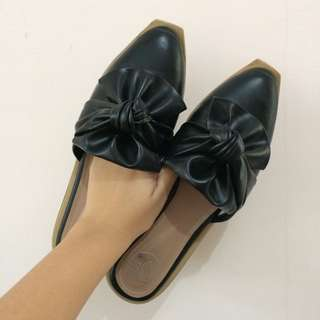 Black Sisca Mules from 13th Shoes