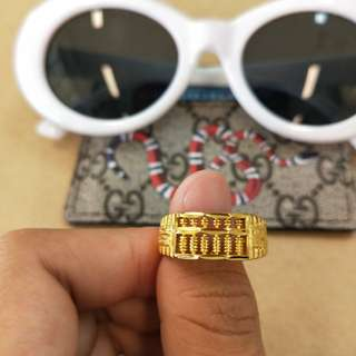 Abacus Gold Plated Ring