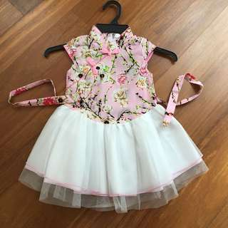 Chinese-collared Tutu Dress 2Y
