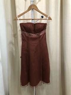 Dress coklat custom xs