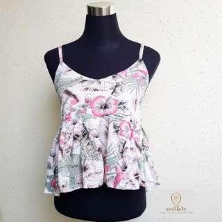 JOANNE shirring sleeveless blouse