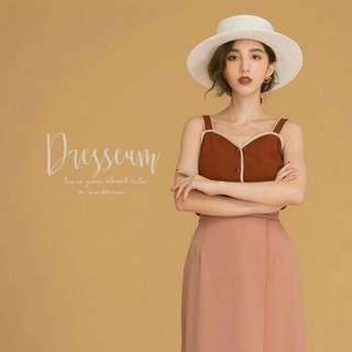 [徵或跟你換]Dresseum 紅粉佳人拼色背心s