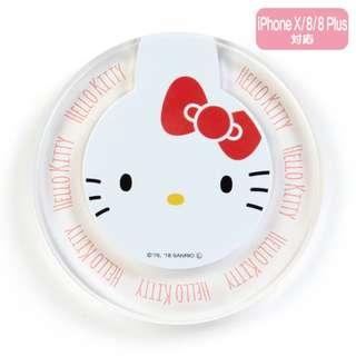 日本代購 sanrio 專門店 2018年 3月 hello kitty 無線充電器 (iPhone X / 8 / 8Plus,GalaxyS8 / S8 + 等)